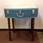 Hand Painted Suitcase End