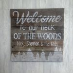Hand Painted Wood Pallet Sign Cabin