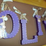 Hand Painted Wooden Letters Nursery Decor Kids