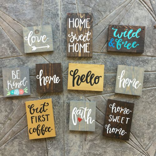 Handmade Hand Painted Custom Wooden Signs Your Home More Made Rustic