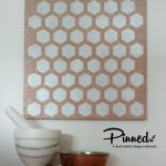 Hexagon Pinboard Hand Painted Cork Board
