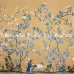 High Hand Painted Wall Murals Chinese Style Silk