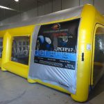 High Quality Portable Car Workstations Yellow Giant Inflatable Spray Booth Paint