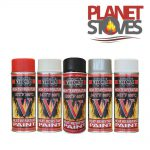High Temperature Spray Paint Wood Burning Stoves Black Various Colours