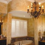 High Textured Metallic Paint Gold Faux Finish Wall