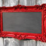 Hollywood Regency Chalkboard Red French Country