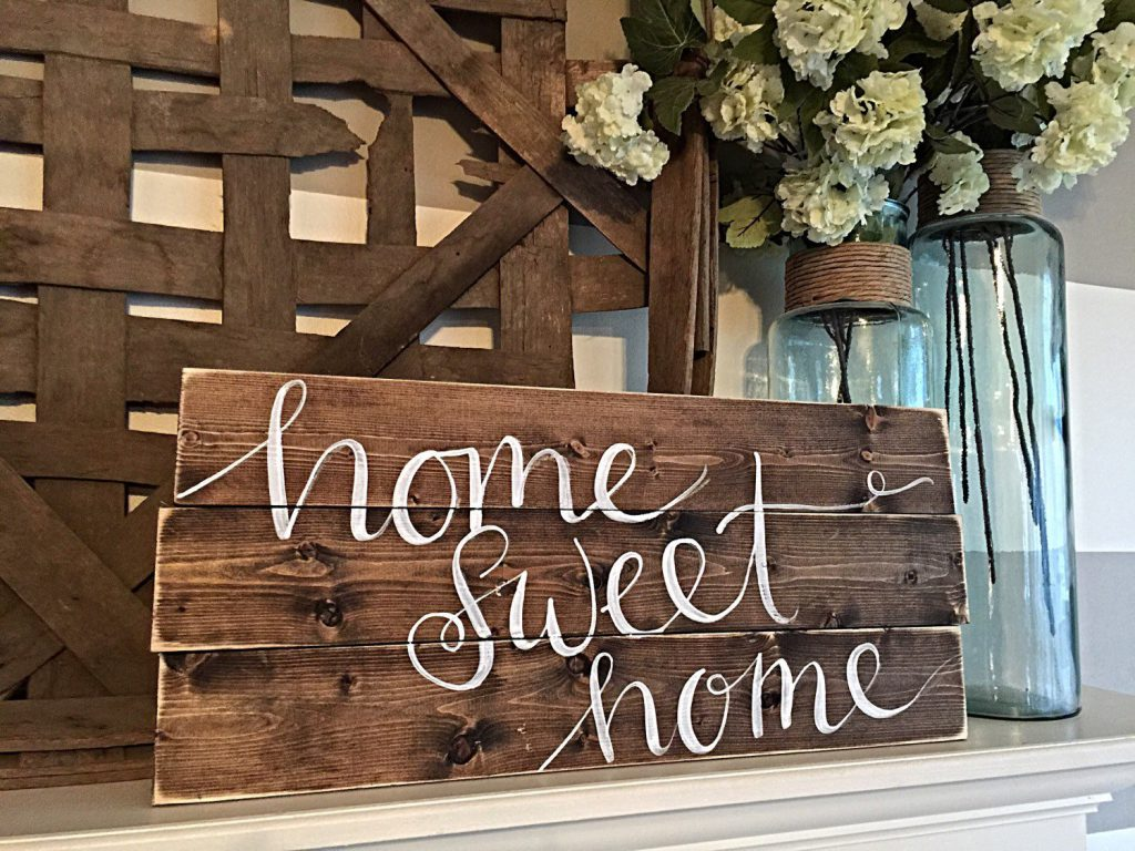 Home Decor Hand Painted Wood Sign