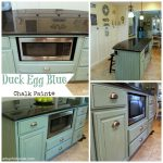 Hometalk Kitchen Island Makeover Duck Egg Blue Chalk