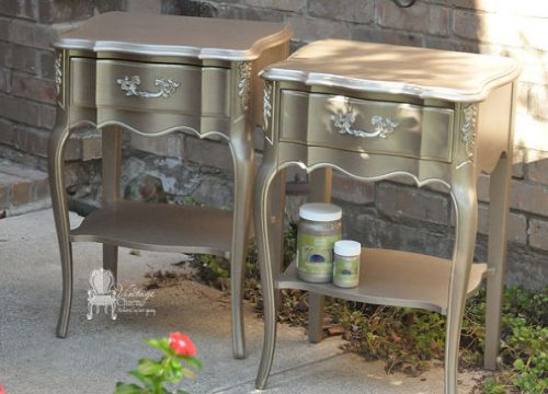 Hometalk Metallic Painted French Provincial