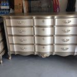 Hometalk Metallic Two Toned Dresser Side