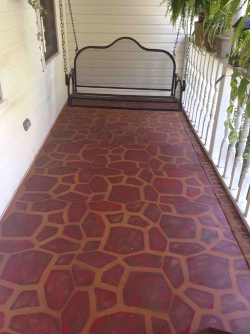 Hometalk Painted Concrete Porch Stone