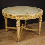 Italian Lacquered Painted Table Louis Xvi