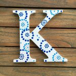 Items Similar Kappa Greek Letter Sorority Wall Art Decor Blue White