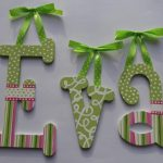 Items Similar Wooden Wall Letters Hand Painted Pink Green Polkatot Designs