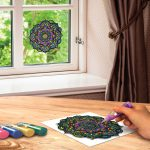 Joy Coloring Removable Stained Glass Art Clings Decals Paints