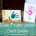 Kids Finger Paint Card Ideas Rays