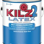 Kilz Latex Interior Exterior Primer Sealer Stainblocker Home Depot