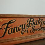 Kitchen Baking Sign Hand Painted Wooden Faux