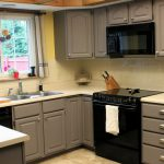 Kitchen Best Type Paint Cabinets Gray