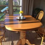 Kitchen Table Transformation Using Chalk Paint Wood Stain Love Our Real