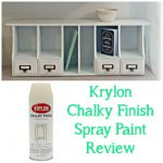 Krylon Chalky Finish Spray Paint Review Desk Organizer Makeover Little Vintage