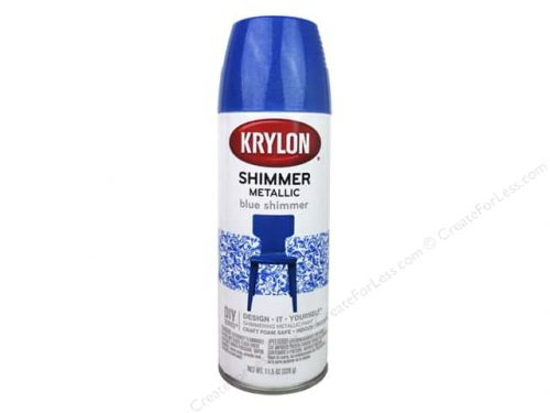 Krylon Shimmer Metallic Spray Paint Blue