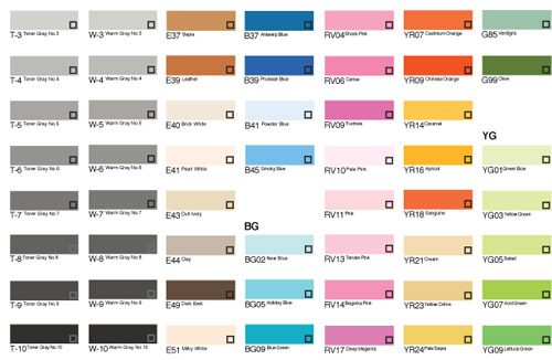 Krylon Spray Paint Color Chart