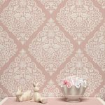 Lace Love Birds Damask Wall Stencil Royal Design Studio