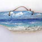 Lake Painting Driftwood Painted