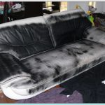 Leather Paint Sofa Actually Cloth Covered Has Been