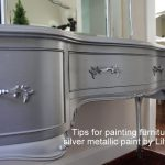 Lilyfield Life Tips Using Metallic Paint Silver Painted Dressing Table