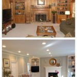 Living Room Before After Paneling Painted Decorating Pinterest
