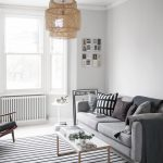 Living Room Makeover Painted White Floors Light Grey Walls Cate