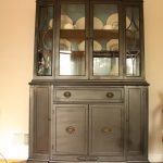 Living Room Updates Spray Painted China Cabinet Makeover Made