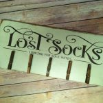 Lost Socks Laundry Room Hand Painted Wood Sign