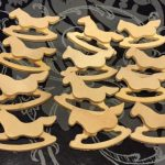 Lot Rocking Horses Wooden Craft Pieces Unfinished Wood Painting