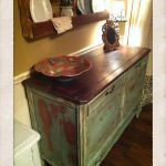Love Wood Stained Top Combined Painted Finish Inspiring