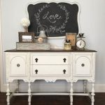 Lovely Buffet Old White Chalk Paint Decorative Annie Sloan Project