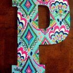 Lovely Painted Wooden Letters Cover Letter