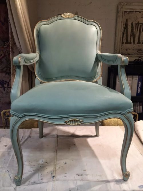 Maison Decor Painted Chair Fabric Frame French