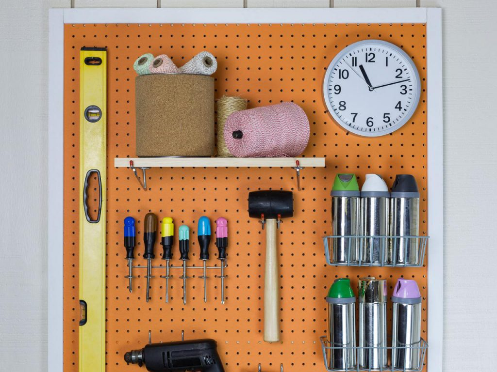Make Garage Organizer Pegboard
