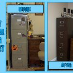 Make Painted Metal Filing Cabinet Can