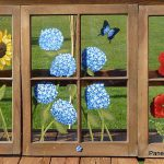 Make Painted Window Panes Your Old