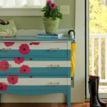 Make Striped Floral Dresser Tos