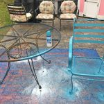 Makeovermonday Painting Year Old Patio Furniture Daily Metal