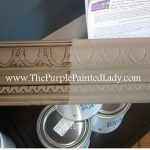 Making Brown Chalk Paint Purple Painted