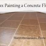 Manitoba Gardens Faux Painting Concrete