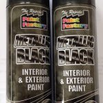 Metallic Black Spray Paint Interior Exterior Aerosol Can