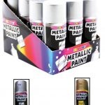 Metallic Gold Silver Spray Paint Interior Exterior Rapid Tin Can