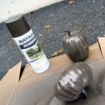 Metallic Spray Painted Pumpkins Tutorial Call